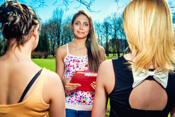 Female students outdoors