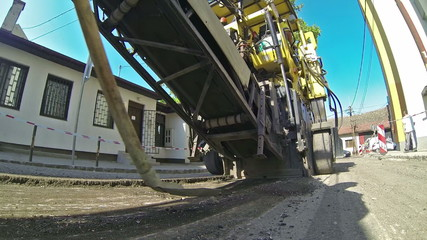 Milling of Asphalt for Road Reconstruction