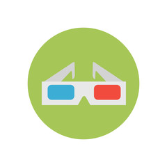 3D glasses - Vector icon