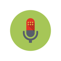 Microphone - Vector icon