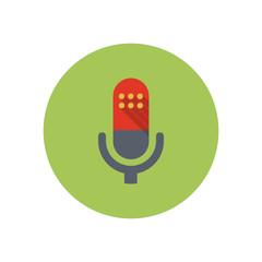 Microphone - Vector icon