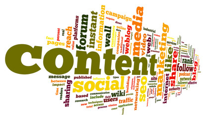 Content conept in word tag cloud