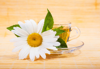 fresh chamomile tea