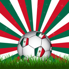 Mexico soccer ball, vector