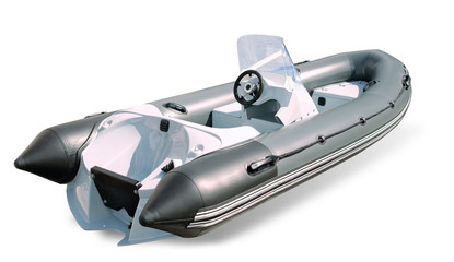 Powerboat on a white background