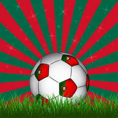 Portugal soccer ball, vector