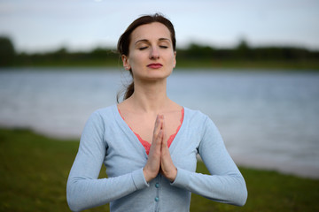 Young woman meditating