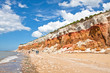 panorama of the layered cliffs at Hunstanton - 66251351