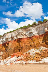 layered cliffs at Hunstanton vertical image