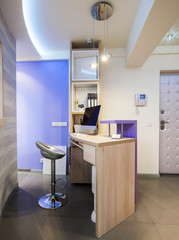 Reception area in dental clinic