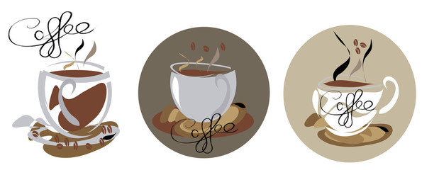 Tree Steamy coffee cup icons