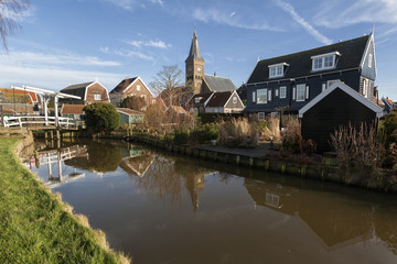 Pequena vila de Marken na Holanda