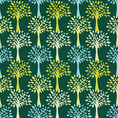 Seamless pattern of Trees - Illustration