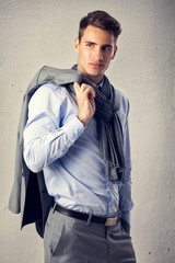 Male model in fashion suit