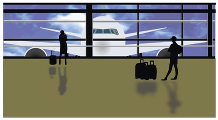 Gate aeroportuale - partenze - vacanze
