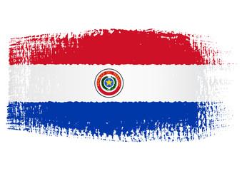 brushstroke flag Paraguay
