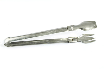 serving tongs isolated on a white background