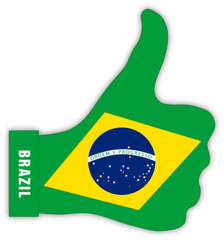 Brasilien Daumen hoch, Brazil thumbs up