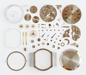 Разобранные механические наручные часы