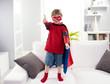 Superhero boy thumb up