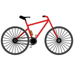 Bicycle on a white background.