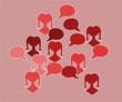 red silhouette speak bubble