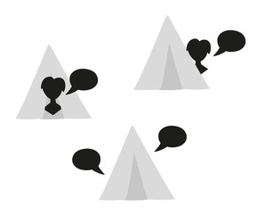 silhouette speak bubble