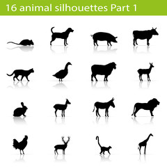 16 animal silhouettes Part 1