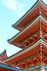 Traditional Japanese style roof at Japanese temple