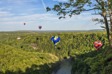 Flying Down The Gorge At Letchworth State Park