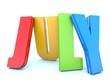 July - calendar month - 3D colored letters - 66258968