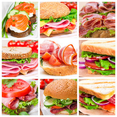 Set of sandwiches