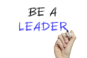 Hand writing be a leader