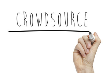 Hand writing crowdsource