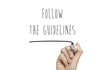 Hand writing follow the guidelines