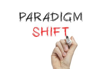 Hand writing paradigm shift