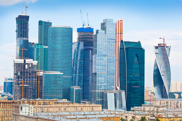 View of Skyscrapers International Business Center, Moscow