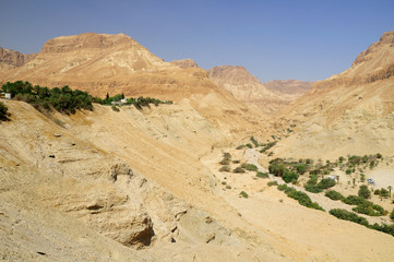 Natural desert landscape at the dead sea area. Israel.