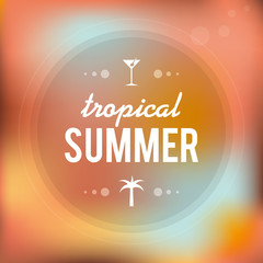 Tropical summer. Blurred background