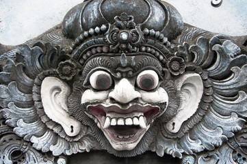traditional image of the demon in Balinese temple
