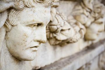 Old greek portrait sculpture