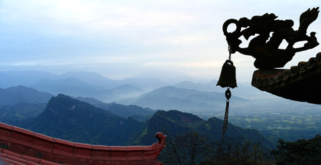 Panoramic view of Qingcheng Mount, Sichuan province, China