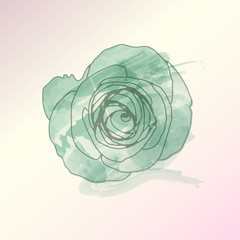 watercolor flower vector ,Eps 10