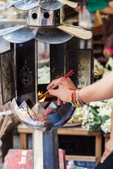 candles for buddhism worshiping