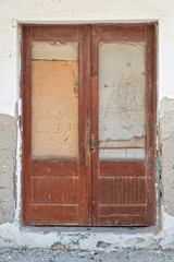 Worn out old wooden door