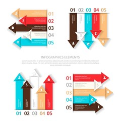 Set of vector design elements for infographic