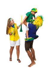 Brazilian family supporters