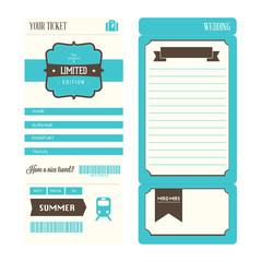 postal y tarjeta de viaje