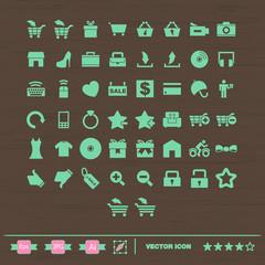 set de iconos para tienda on-line