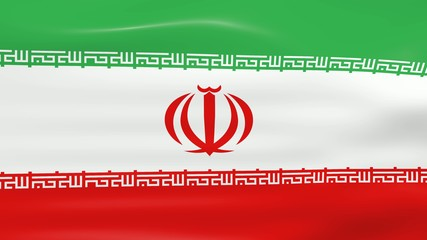 Waving Iran Flag